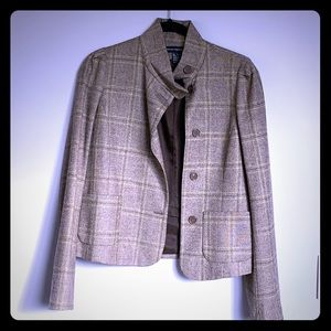 French Connection Checkered Blazer